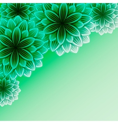 Beautiful ornamental background with flowers vector image
