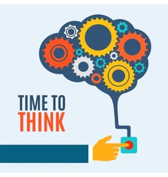 Time to think creative brain idea concept vector