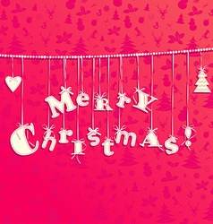 Christmas applique background Garland of letters vector image