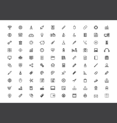 376outline icon set vector image vector image