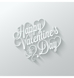 Valentines day vintage lettering cut paper vector