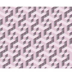 3d isometric cube pattern vector image vector image