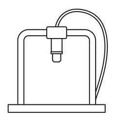 3d printer frame icon outline vector