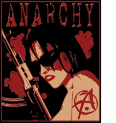 Girl anarchy vector
