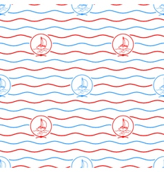 Yacht  seamless pattern vector