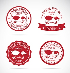 Set of pig label vector