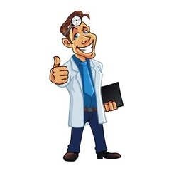 Cool medical doctor cartoon vector