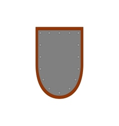 Sign shield silver 2407 vector