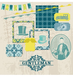 Gentlemens accessories set vector