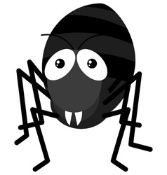black ant on white background vector image vector image