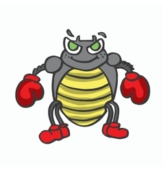 Boxing insect kids t-shirt design vector