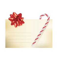 christmas themed blank note card vector image vector image