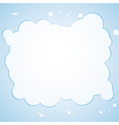 Cloud border background vector