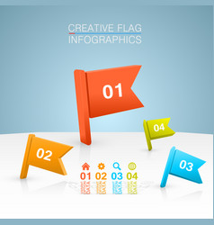 colored flags on a white background vector image vector image