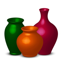 colorful vases vector image