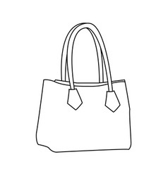 Handbag elegant fashion female outline vector