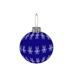 Happy new year hanging blue bubble with snowflaks vector