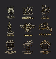 Honey logotypes vector