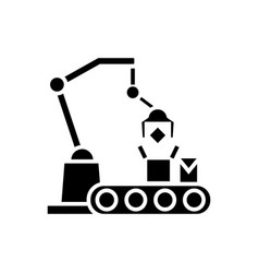 industrial robot line icon vector image vector image