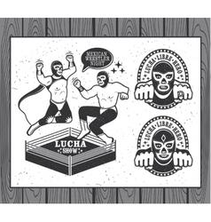Lucha libre collection vector