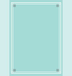 nice ornate frame design vector image
