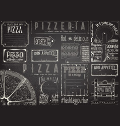 Placemat for pizzeria vector