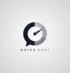 quick chat speedometer logotype theme vector image