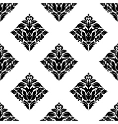 Repeat seamless floral pattern vector