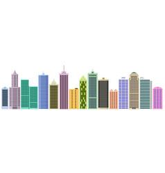 Set of cartoon skyscrapers vector
