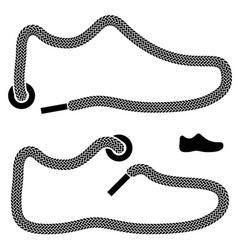 shoelace shoe symbols vector image vector image