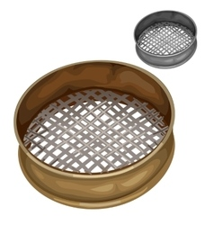 Sieve for sifting flour and other dry substances vector image vector image