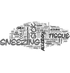 Sneezing word cloud concept vector