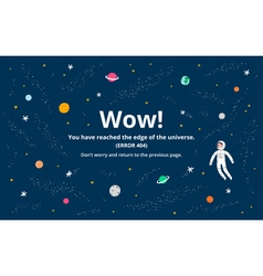 Space error page vector image