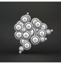 Sphere Molecular Structure 3d vector image vector image