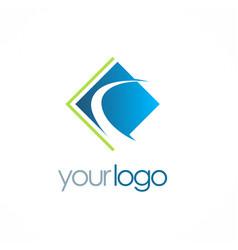 square company logo vector image vector image