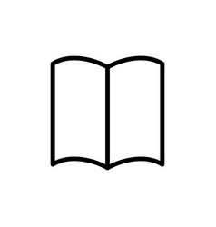 thin line book magazine icon vector image vector image