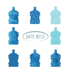 Water bottle sign vector image