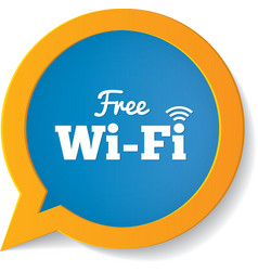 Wifi speech bubble free wifi symbol wifi zone vector