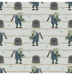 Zombie seamless pattern vector image