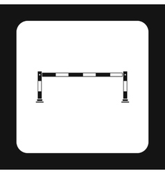 Car barrier icon simple style vector