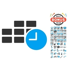 Date time icon with 2017 year bonus symbols vector