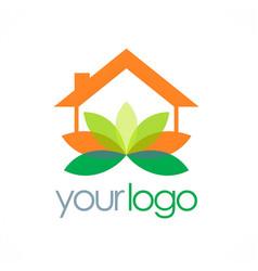 Home yoga spa logo vector