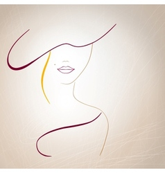 Abstract silhouette of a woman with a mole on the vector