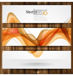 Abstract orange smooth waves vector