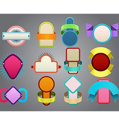 Colorful badges vector image