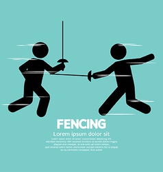 Fencing sport sign vector