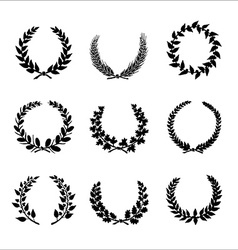 Circular laurel wrearhs vector