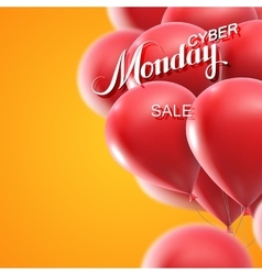 Cyber Monday Sale label vector image