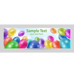 Festive background banner template vector