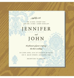 Wedding invite cards vector image
